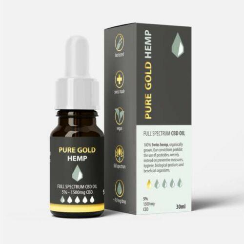 5% Pure Gold Hemp CBD olaj 30ml