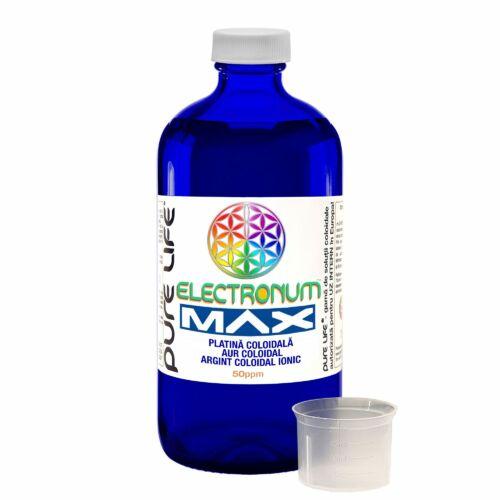 Electronum MAX 50 ppm- platina, arany és ezüst kolloid oldat 480 ml
