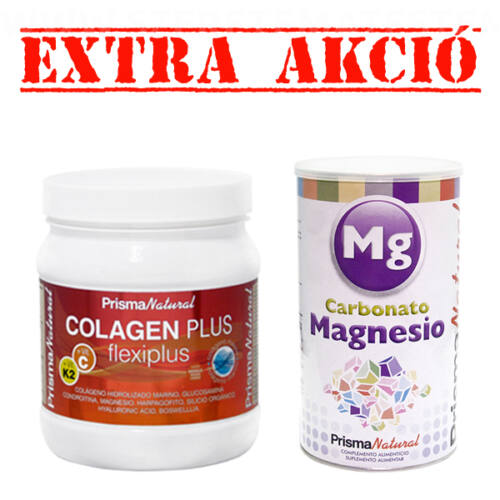 Colagen Plus Flexiplus - csont- és ízületerősítő por 300g + Carbonato de Magnesio - Magnézium-karbonát por 200g