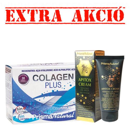 Colagen Plus - öregedésgátló hatású bőr- csont- és ízületregeneráló por + Apitox méhméreg krém