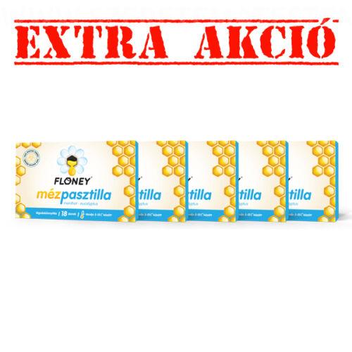 Floney mézpasztilla - menthol - eucalyptus - 5 doboz