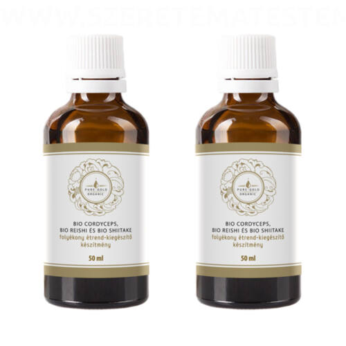 Pure Gold Organic Cordyceps Sinensis with BIO Reishi and Shiitake 2x50ml
