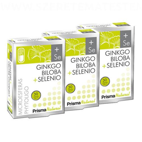 Ginkgo Biloba + Selenio - 3 x 30 db Páfrányfenyő kivonatot és szelént tartalmazó mikrokapszula