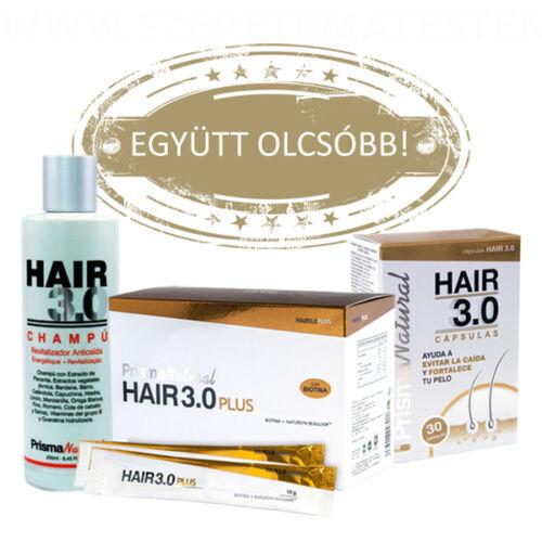 Hair 3.0 hajregeneráló csomag: sampon + kapszula + ivógél