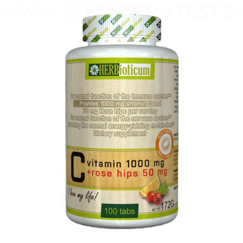 Herbioticum - C-vitamin 1000mg + Rose Hips 50mg