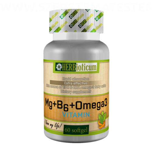 Herbioticum - Magnézium + B6-vitamin + Omega3 kapszula