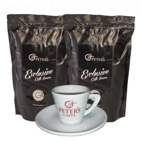 Peter's Exclusive Ethiopia Sidamo - szemes kávé 2 x 500g + ajándék kávéscsésze
