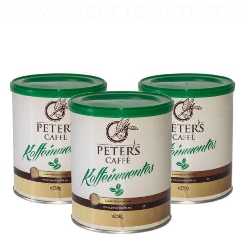 Peter's Koffeinmentes őrölt kávé 3 x 250g