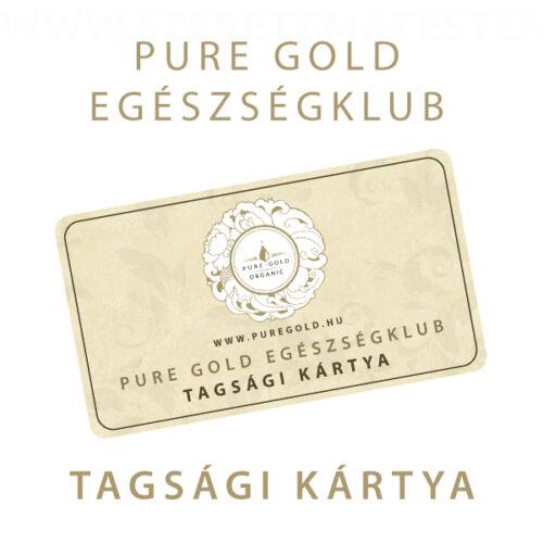 Pure Gold Egészségklub - tagsági kártya
