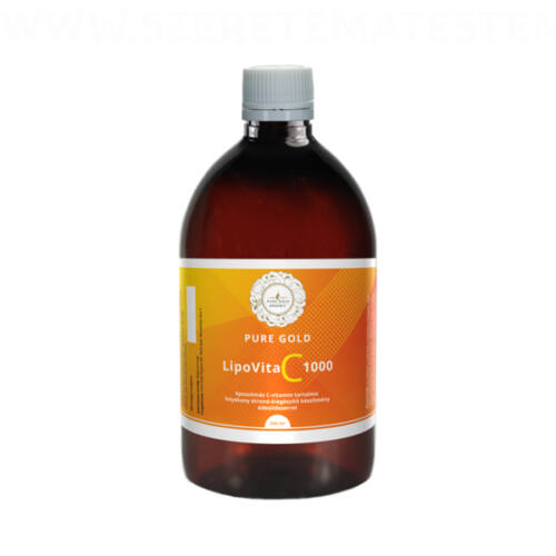 Pure Gold LipoVita C 1000 folyékony liposzómás C vitamin 250 ml