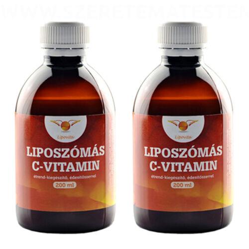 LipoVita - Folyékony liposzómás C-vitamin 2x200 ml