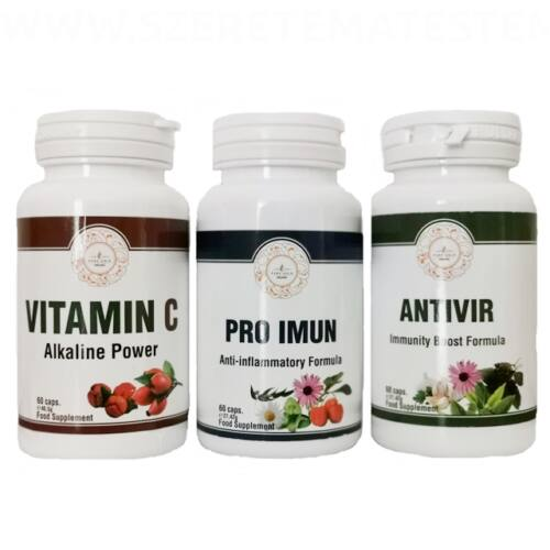 Vitamin csomag - Pro Immun + AntiVir + C Vitamin kapszula