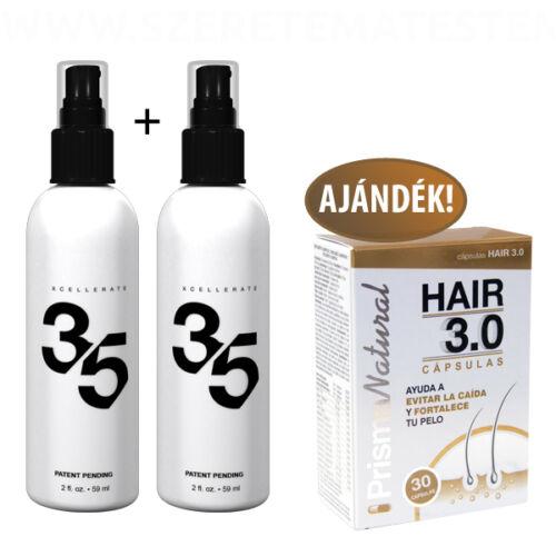 XCellerate 35 - hajregeneráló szérum 2 flakon + ajándék HAIR 3.0 hajregeneráló kapszula